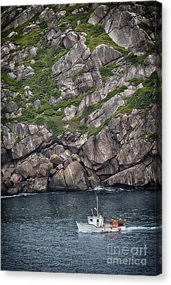 Canvas Print featuring the photograph Newfoundland Fishing Boat by Verena Matthew