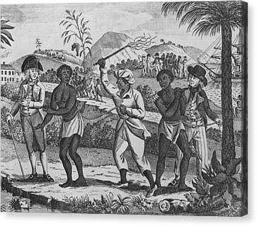 Newly Arrived African Captives Canvas Print by Everett