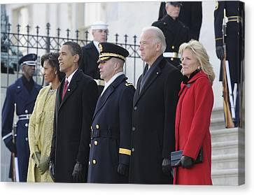 Newly Inaugurated President Obama Canvas Print