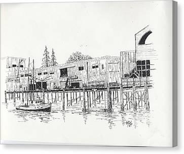Newport Oregon Waterfront Canvas Print