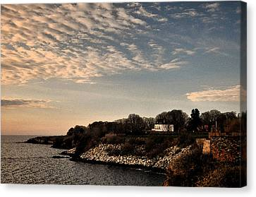 Canvas Print featuring the photograph Newport Vibrant Morning by Nancy De Flon