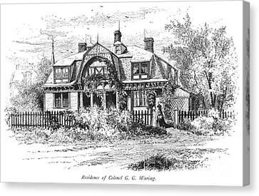 Newport: Villa, C1876 Canvas Print by Granger
