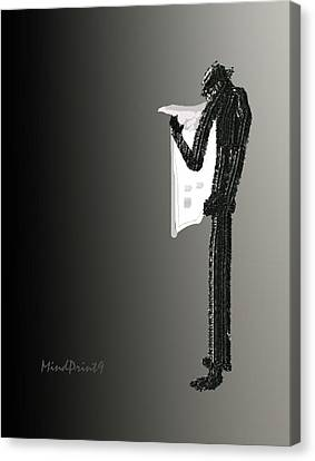 Newspaper Reader Canvas Print by Asok Mukhopadhyay