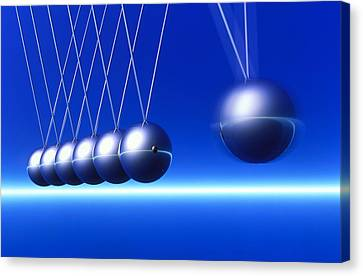 Newton's Cradle In Motion Canvas Print by Pasieka