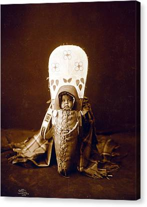 Nez Perc� Infant In Cradleboard. Edward Canvas Print by Everett