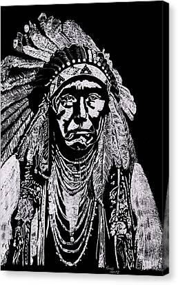 Nez Perce Canvas Print by Jim Ross