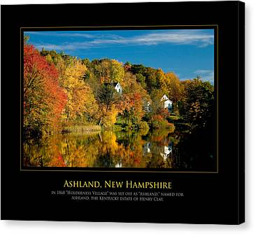Nh Foilage Canvas Print by Jim McDonald Photography