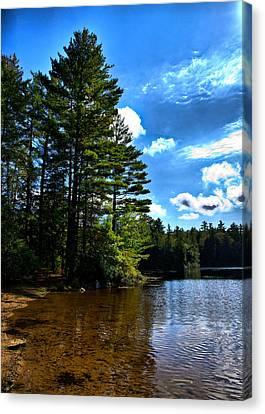 Nh Lake 3 Canvas Print by Edward Myers