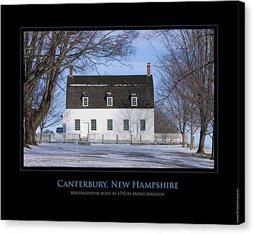 Nh Meetinghouse Canvas Print by Jim McDonald Photography