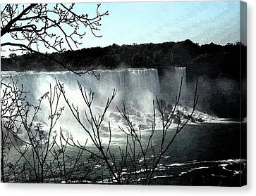 Canvas Print featuring the photograph Niagar Falls by Pravine Chester
