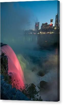 Niagara At Night Canvas Print by Guy Whiteley