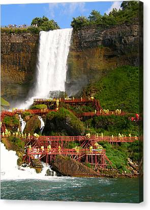 Canvas Print featuring the photograph Niagara Falls Cave Of The Winds by Mark J Seefeldt