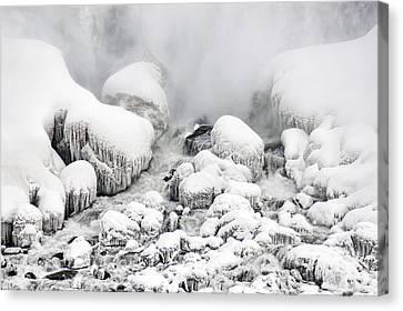 Niagara Falls Frozen Abstract 1 Canvas Print