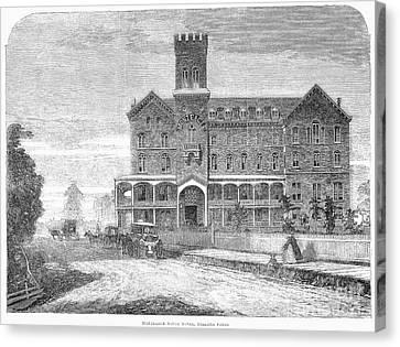 Niagara Falls Hotel, 1863 Canvas Print by Granger