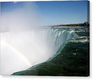 Niagara Falls Rainbow Please Do Not Jump For Gold   Canvas Print by Danielle  Parent