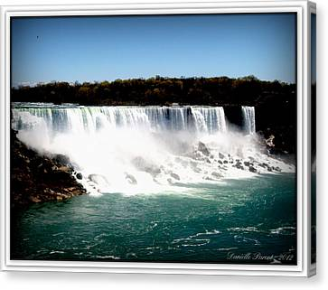 Canvas Print featuring the photograph Niagara Falls The Canadian Side by Danielle  Parent