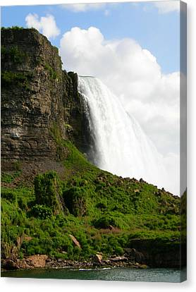 Canvas Print featuring the photograph Niagara Falls Us Side by Mark J Seefeldt