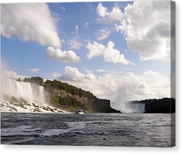 Canvas Print featuring the photograph Niagara Falls View From The Maid Of The Mist by Mark J Seefeldt