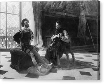 Niccol� Machiavelli 1469-1527 In An Canvas Print by Everett