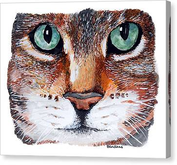 Canvas Print featuring the painting Nice Kitty by Terry Banderas