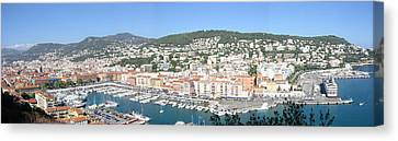 Canvas Print featuring the photograph Nice Marina by David Grant