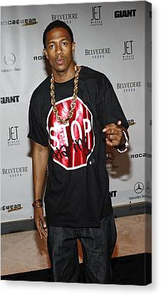 Nick Cannon At Arrivals For Rocawear Canvas Print