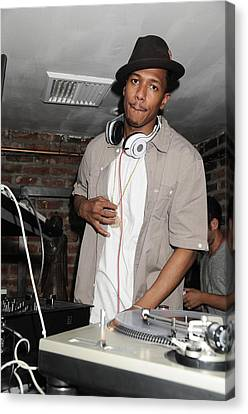 Nick Cannon, Guest D.j., Bamboo Canvas Print by Everett