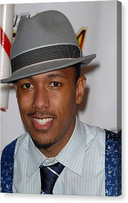 Nick Cannon In Attendance For Kiis Fms Canvas Print by Everett