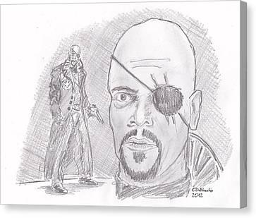 Nick Fury- Director Of S.h.i.e.l.d. Canvas Print by Chris  DelVecchio
