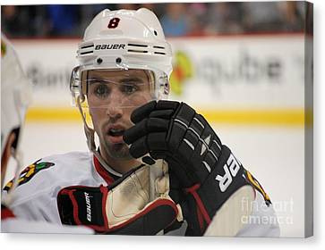 Nick Leddy - Chicago Blackhawks Canvas Print by Melissa Goodrich