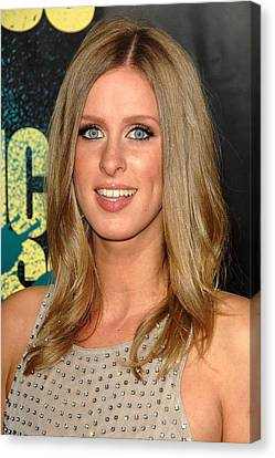 Nicky Hilton Canvas Print - Nicky Hilton At Arrivals For Kick-ass by Everett