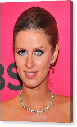 Nicky Hilton Canvas Print - Nicky Hilton Wearing A Mouawad Necklace by Everett