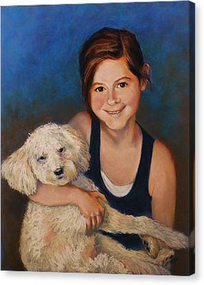 Nicole And Joey Canvas Print by Peggy Wrobleski