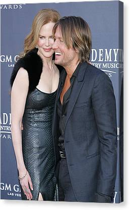 Nicole Kidman, Keith Urban At Arrivals Canvas Print by Everett