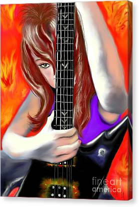 Canvas Print featuring the painting Nicole  by Lori  Lovetere