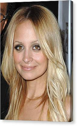 Nicole Richie  At Arrivals Canvas Print by Everett