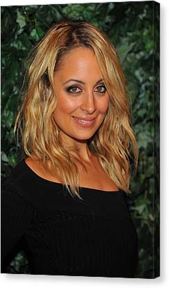 Nicole Richie At Arrivals For Qvc Red Canvas Print by Everett