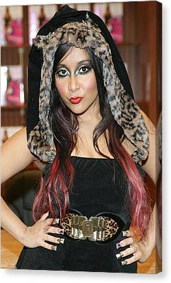 Nicole Snooki Polizzi At In-store Canvas Print by Everett