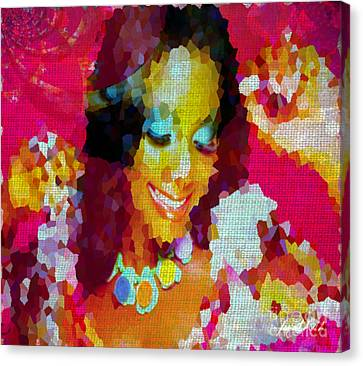 Painted Details Canvas Print - Nigerian Girl by Fania Simon