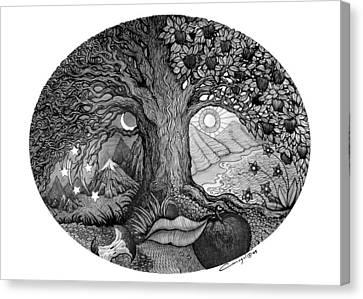 Apple Tree Canvas Print - Night And Day by Caroline Czelatko