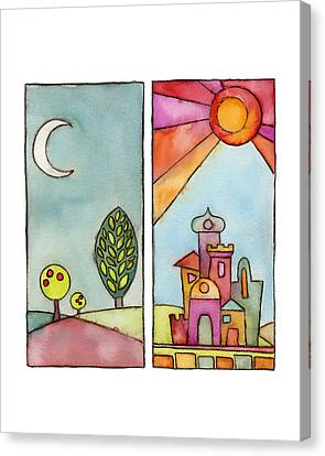 Night And Day Canvas Print by Susie Lubell