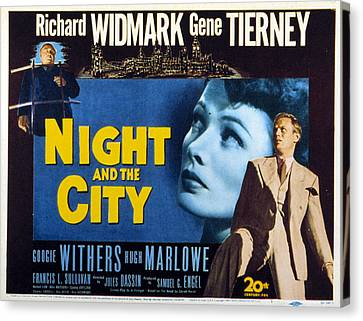 Night And The City, Gene Tierney Canvas Print by Everett