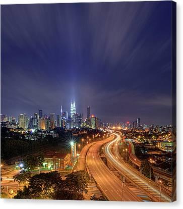 Night At  Kuala Lumpur Canvas Print by Zackri Zim's Photography