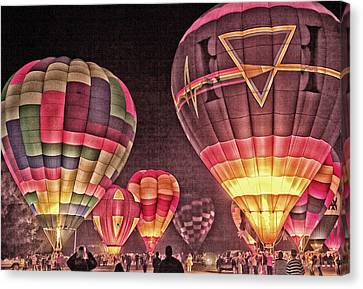 Night Balloon Lighting Canvas Print