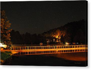 Canvas Print featuring the photograph Night Bridge by Kay Lovingood