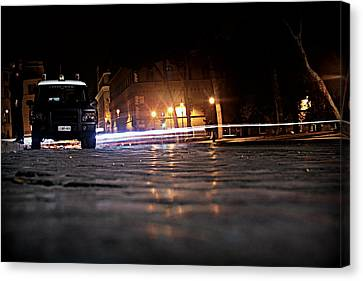 Night Cops Canvas Print by Kevin Flynn