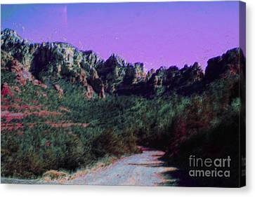 Sedona Mountains Canvas Print - Night Falls On Sedona by Julie Lueders