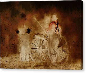 Night Fire Canvas Print by Ron Jones
