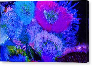 Night Flowers Canvas Print by Anne-Elizabeth Whiteway
