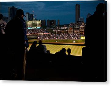 Night Game At Wrigley Field Canvas Print